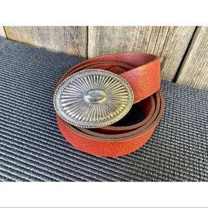 VINTAGE genuine leather boho belt